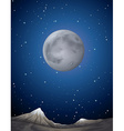 Scene with moon over the planet vector image