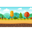 Seamless cartoon landscape vector image vector image