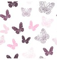 Seamless pattern made of butterflies vector image vector image