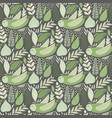 seamless tough pattern with owls and floral vector image vector image