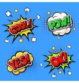 set comic speech bubbles and dynamic explosion vector image