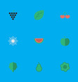 set of simple garden icons vector image vector image