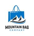 shopping and mountain bag logo design