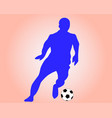 soccer player with a ball vector image