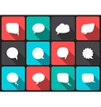 Speech bubbles with long shadow in flat design vector image vector image