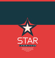 star in leaner flat style vector image