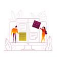 task management - modern flat design style vector image
