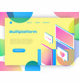 technology business online app landing page vector image