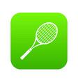 tennis racket icon green vector image vector image