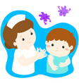 vaccination child cartoon vector image vector image