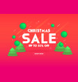 web banner for christmas sale 3d depth vector image vector image
