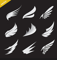 white wing icons set vector image vector image