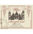 wine label vector image vector image