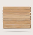 Wooden board cartoon vector image vector image