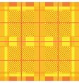 Yellow Tartan Print vector image vector image