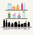 a set of cute icon collection of glassware jars vector image vector image