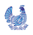 Abstract gzhel bird with ornament vector image