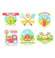 agro badges cartoon vector image vector image