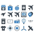 Airport Icon Set vector image