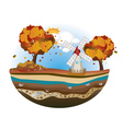 Autumn Windmill Island vector image