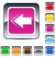 back arrow square button vector image vector image