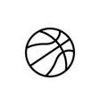 basketball icon black vector image vector image