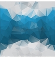 blue-gray background polygonal vector image vector image