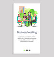 business meeting partners people on conference vector image vector image