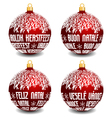 christmas balls with four languages NL I P CZ vector image