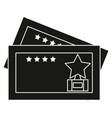 cinema tickets isolated icon vector image vector image