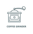 coffee grinder line icon linear concept vector image