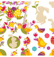 collection spring easter seamless patterns vector image vector image