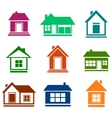 colorful cottage set vector image vector image
