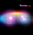 colorful lights background vector image vector image