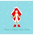 Cute Santa Cockerel Claus vector image