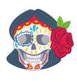 day dead mexican tradition skull make vector image