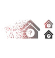 dispersed pixel halftone status building icon vector image vector image