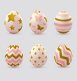 easter eggs with golden elements vector image vector image