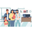 family doctor couple with children in vector image vector image