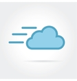 fast cloud icon logotype vector image
