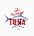 fishing tuna abstract sign symbol or logo vector image vector image