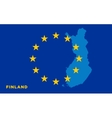 Flag of European Union with Finland on background vector image vector image