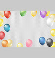 flying color transparent balloons on transparent vector image