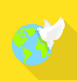 global peace pigeon icon flat style vector image