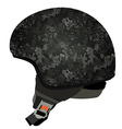 Grey military helmet vector image vector image
