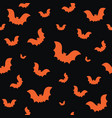 halloween seamless pattern with orange bats on vector image