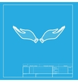 Hand sign White section of icon on vector image vector image