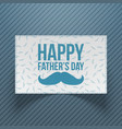 happy fathers day gift card template vector image vector image