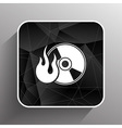 Icon computer disk recording abstract art audio vector image vector image