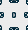 love letter icon sign Seamless pattern with vector image